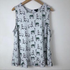 Ann Taylor Size XL Llama Blouse